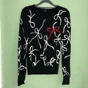 Ann Taylor Wool Blend Bow Sweater Size Medium